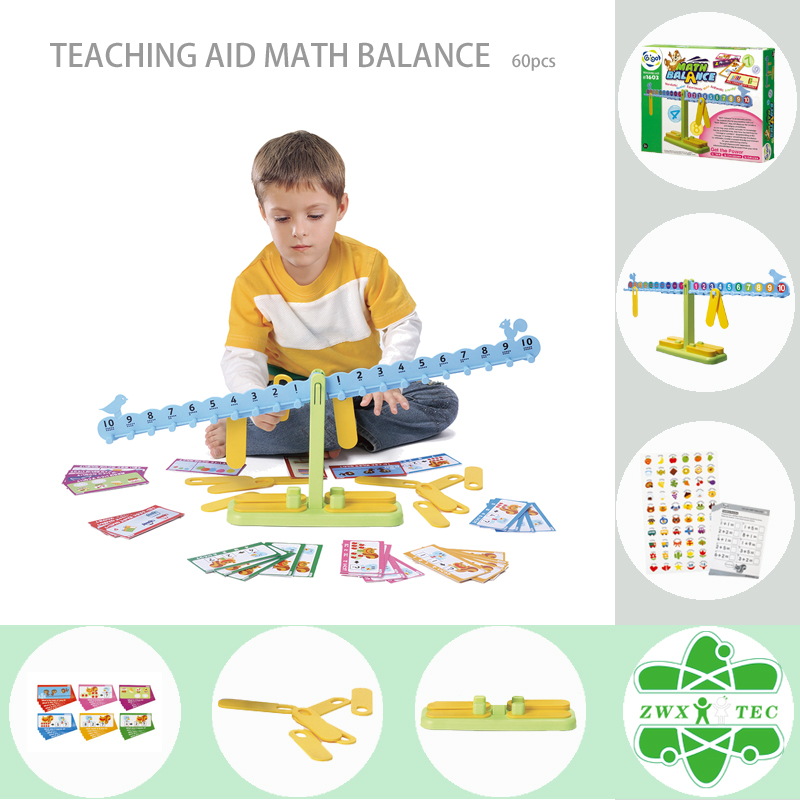 Gigo Teaching Aid MATH BALANCE with Colorful Animal Pattern Work Cards #1603 Model Building Kits Kids' Arithmetic Science Toys(China (Mainland))