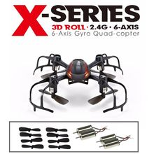 Free Shipping!MJX X902 RC Quadcopter Mini Helicopter 3D Flip Drone+Extra CW/CCW Motors&Blades
