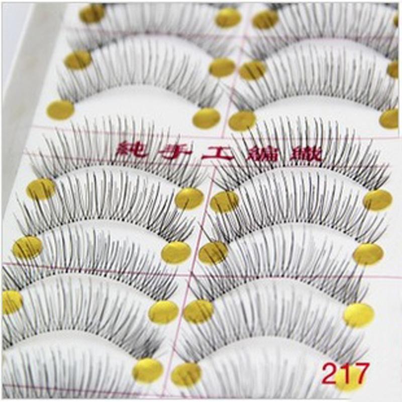 20Pair Women Beauty Makeup Thick False Eyelashes Hand Made Long Black Nature Eyelashes Bigeye False Eye Lashes Extension(China (Mainland))