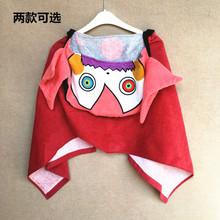 Vosges sports towel exported to Japan cartoon printing Cotton Hooded adult sports towel soft sweat