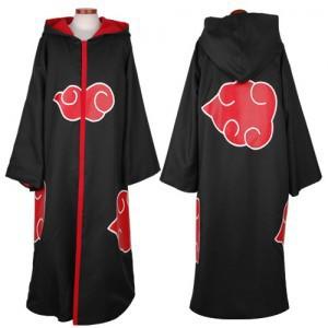 Free Shipping Hot Selling naruto cosplay costume Naruto Akatsuki Uchiha Itachi Cosplay Cloak Hooded Plus Size (S-2XL) WA305(China (Mainland))