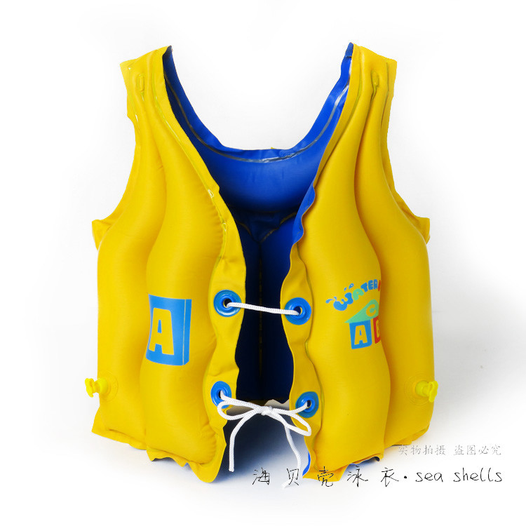 Free shipping Thickening boys and girls learn to swim vest children's inflatable lifejacket swimming(China (Mainland))