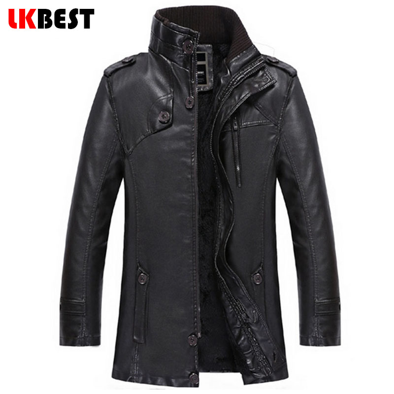 2017 New arrival men leather jacket casual mens leather jackets and coats pu leather suede brand leather pilot jacket (PY018)(China (Mainland))