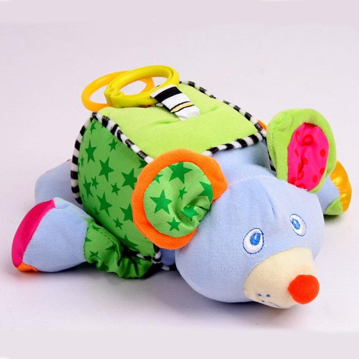 Soft Crib Toys : Soft baby toy plush crib bed hanging animal educational
