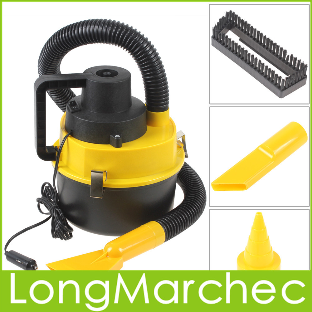 Portable Wet And Dry 12V 120W Handheld Mini Car Dust Vacuum Cleaner With Brush / Crevice / Nozzle Head Power By Cigarette Ligher(China (Mainland))