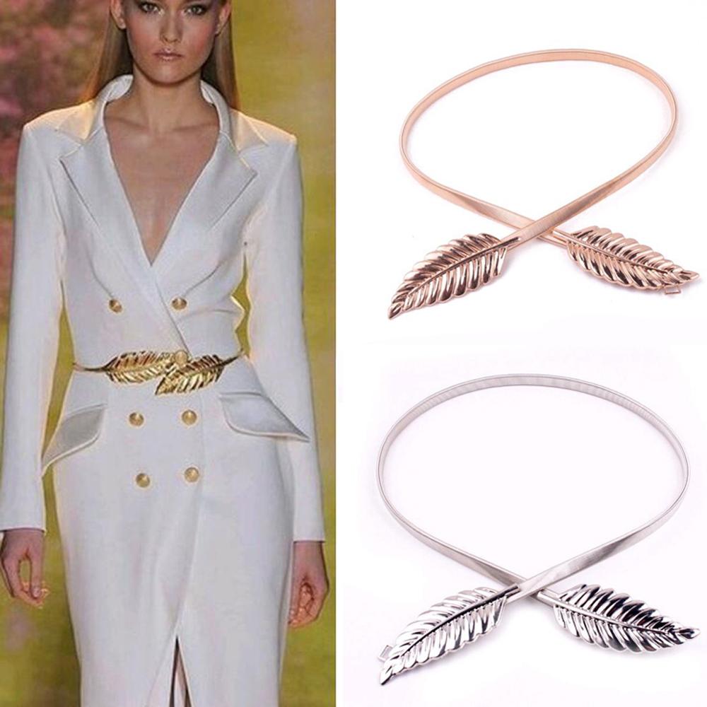 Star catwalk metal elastic waistband, New fashionable women metal leaf elastic waist belt waist belt wholesale sales promotion(China (Mainland))