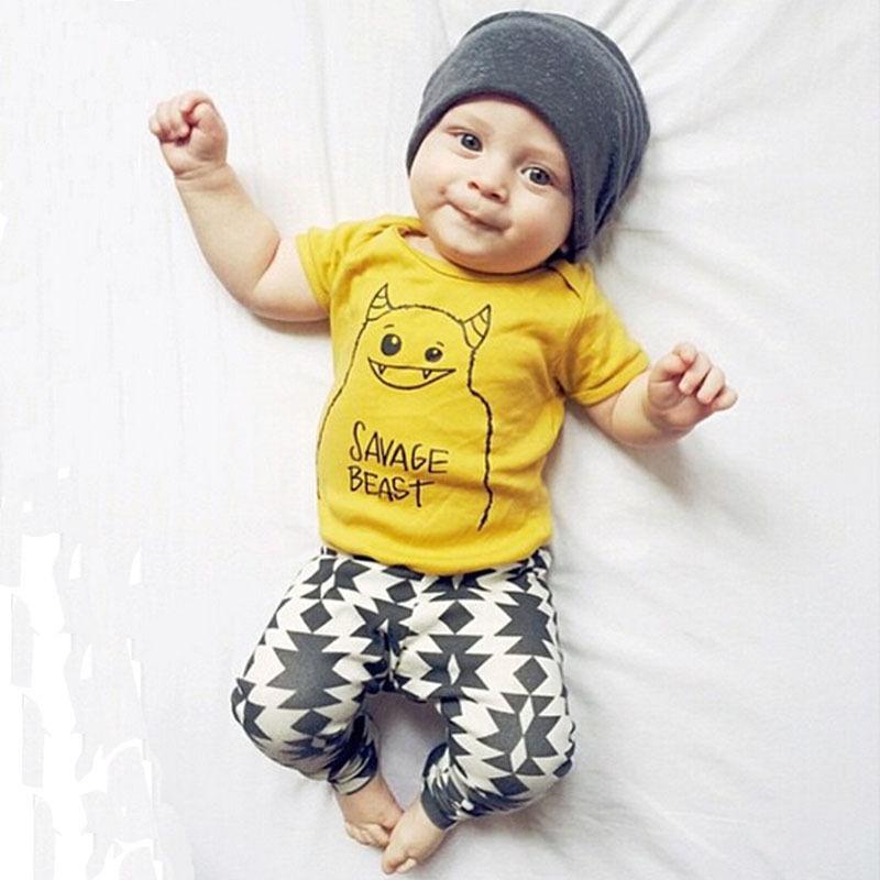 Summer Kids Clothes Sets Boy T Shirt Pants Suit Clothing Set Clothes
