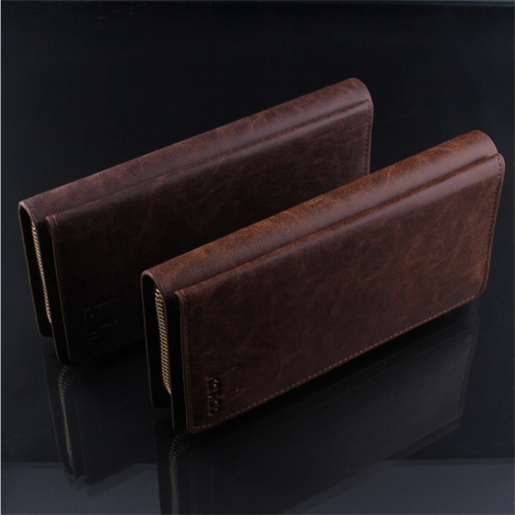M04 2014 New leather wallets men clutch bag wholesale ,men's wallet, Brand genuine Leather Wallet for men , Gent Leather purses(China (Mainland))