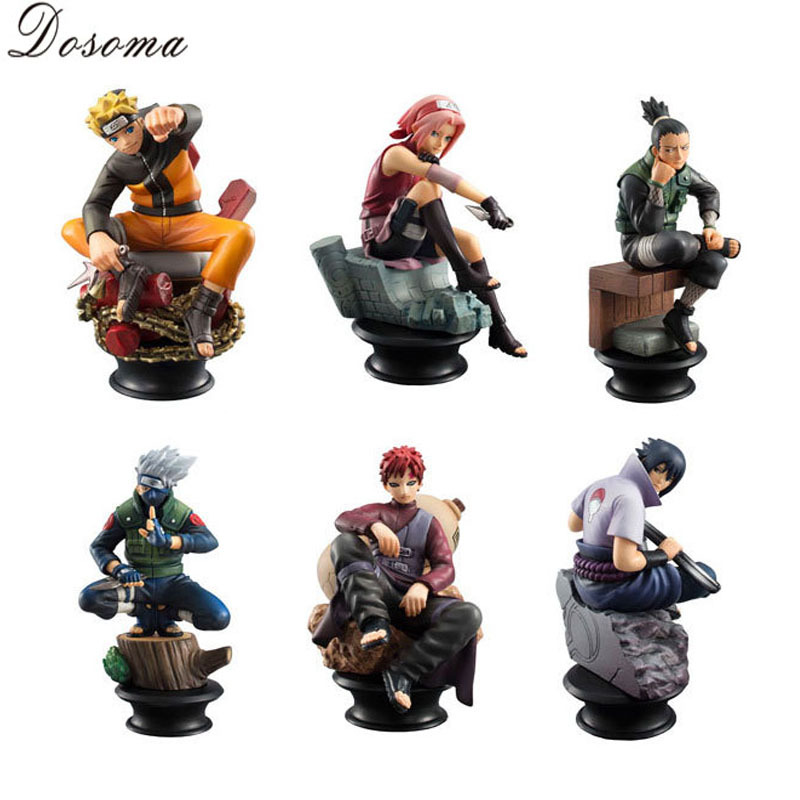 6 Pcs/set Naruto Action Figure Anime Pvc 9cm Cool Uzumaki Hinata Madara Kakashi Figure Classic Toys for Kids or Collection WS156(China (Mainland))