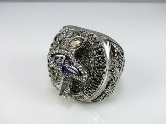Free shipping 2012 Baltimore Ravens Super Bowl Championship Rings size 11 solid(China (Mainland))