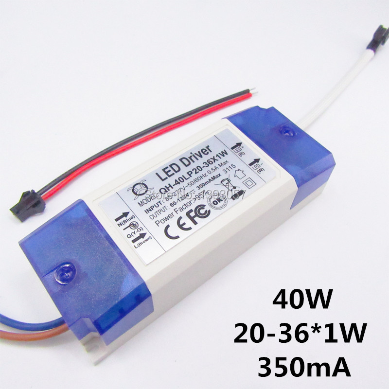 1pcs 20W 30W 40W LED Driver 20-36x1W 350mA DC60-120V High Power LED Powr Supply For Floodlight(China (Mainland))