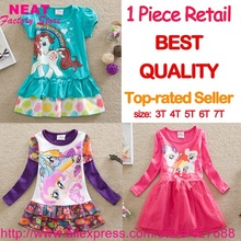 retail 2016 brand dress baby girls print lace tutu dresses vestidos wedding cartoon children clothing kids wear nova LD668 MIX - NEAT Factory Store store