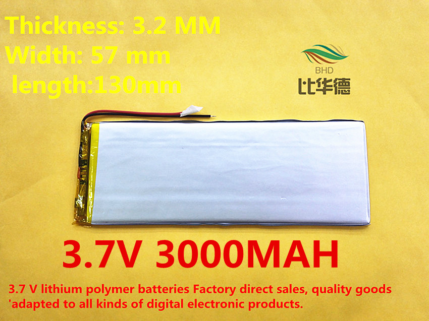 free shipping Polymer lithium ion battery 3 7 V 3257130 can be customized wholesale CE