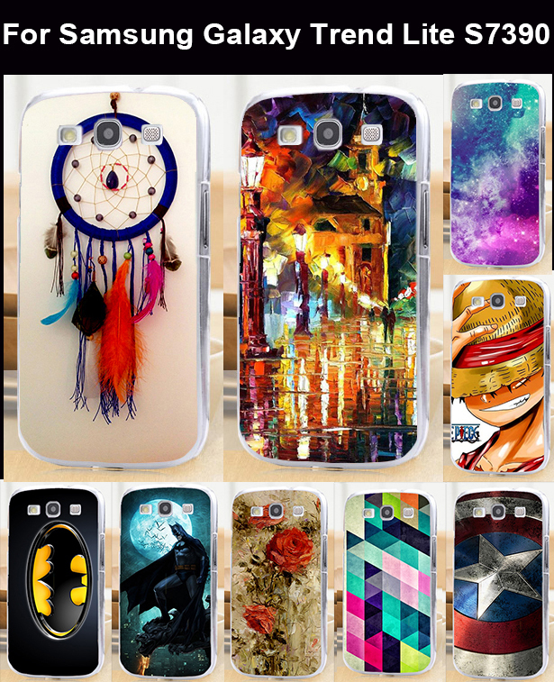 Free shipping DIY Painted mobile phone case protective case hard Back cover Skin Shell for Samsung Galaxy Trend Lite S7390 S7392(China (Mainland))