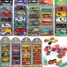 1: 64 diecast alloy toy car model metal barrowload open the door  5 PCS/set kids toys Christmas gifts(China (Mainland))
