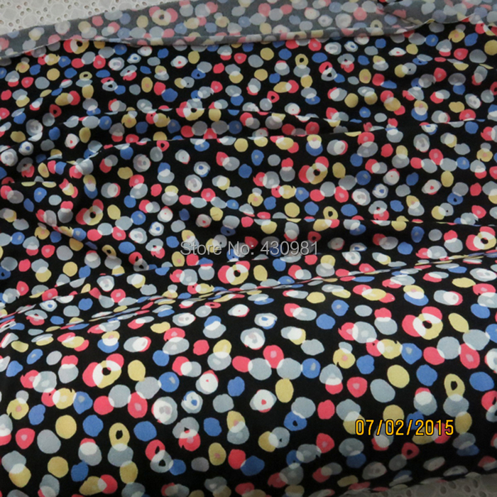 Polka Dots Print Clothing Fabric Elastic Stretch Knit Jersey Textile Factory Derect(China (Mainland))