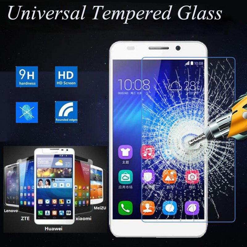 Premium 2.5D 9H Universal Tempered Glass For <font><b>Smartphone</b></font> Without Home Key For ZTE Xiaomi Huawei <font><b>Lenovo</b></font> Meizu Coolpad