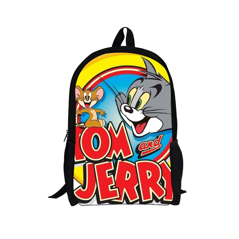 Tom and Jerry school backpack bag,fashion design back packbag,cartoon children kids backpack backbag free shipping(China (Mainland))