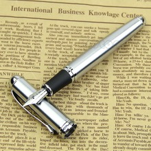 Free Shipping Jinhao X750 Silver Stainless Steel Medium 18KGP Nib Fountain Pen(China (Mainland))
