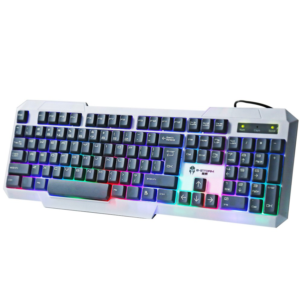 Keyboard B-STORM K20 Pro Gaming Keyboard Colorful LED Backlit Backlight QWERTY Durable USB Wired Keypad PC Laptop Desktop Gamer(China (Mainland))