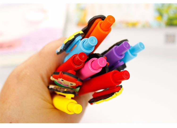 Kawaii Lily Princess Gel Pen 0.5mm Black Pen Candy Colored PVC Pens Papelaria Stabilo Cute Stationery School Supplies