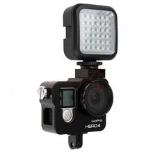 W36 WanSen 4 W cámara de vídeo LED luz ee.uu. plug negro 160LX 6500 K DC 3.7 V para Gopro 1 / 2 / 3 / 4 DSLR cámaras