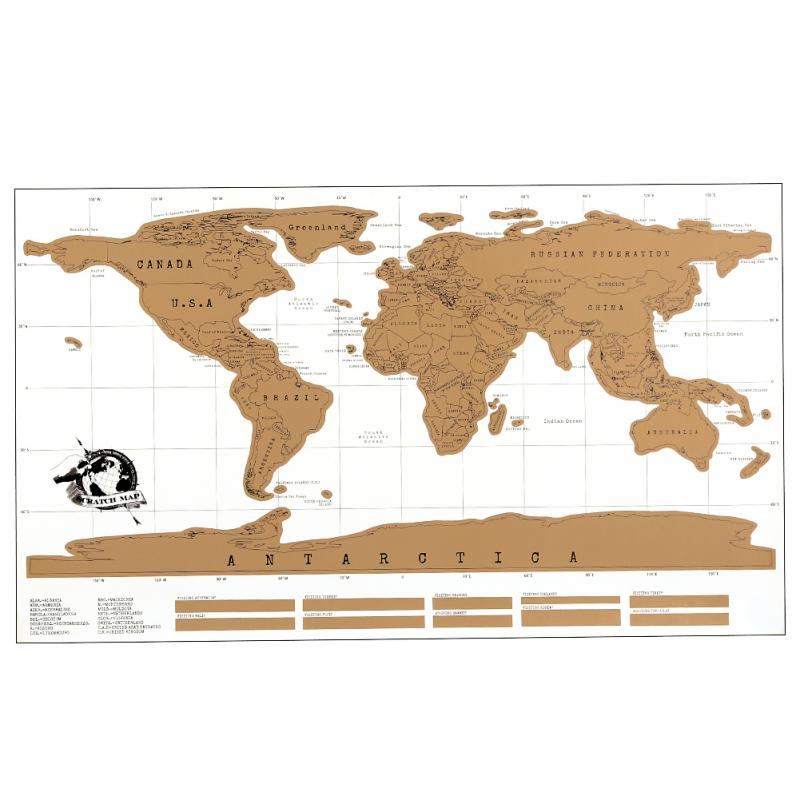 Personalized Scratch Off World Map Traveler Vacation Log Poster Flip Chart Wholesalestore(China (Mainland))