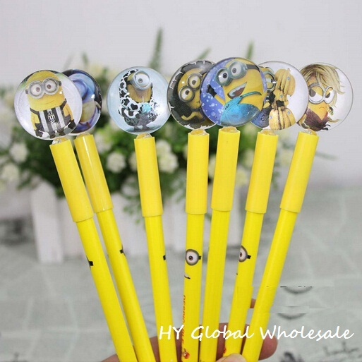 Creative cartoon Yellow Doll series gel pen /Korean Style/funny gift/Free shipping/Wholesale<br><br>Aliexpress