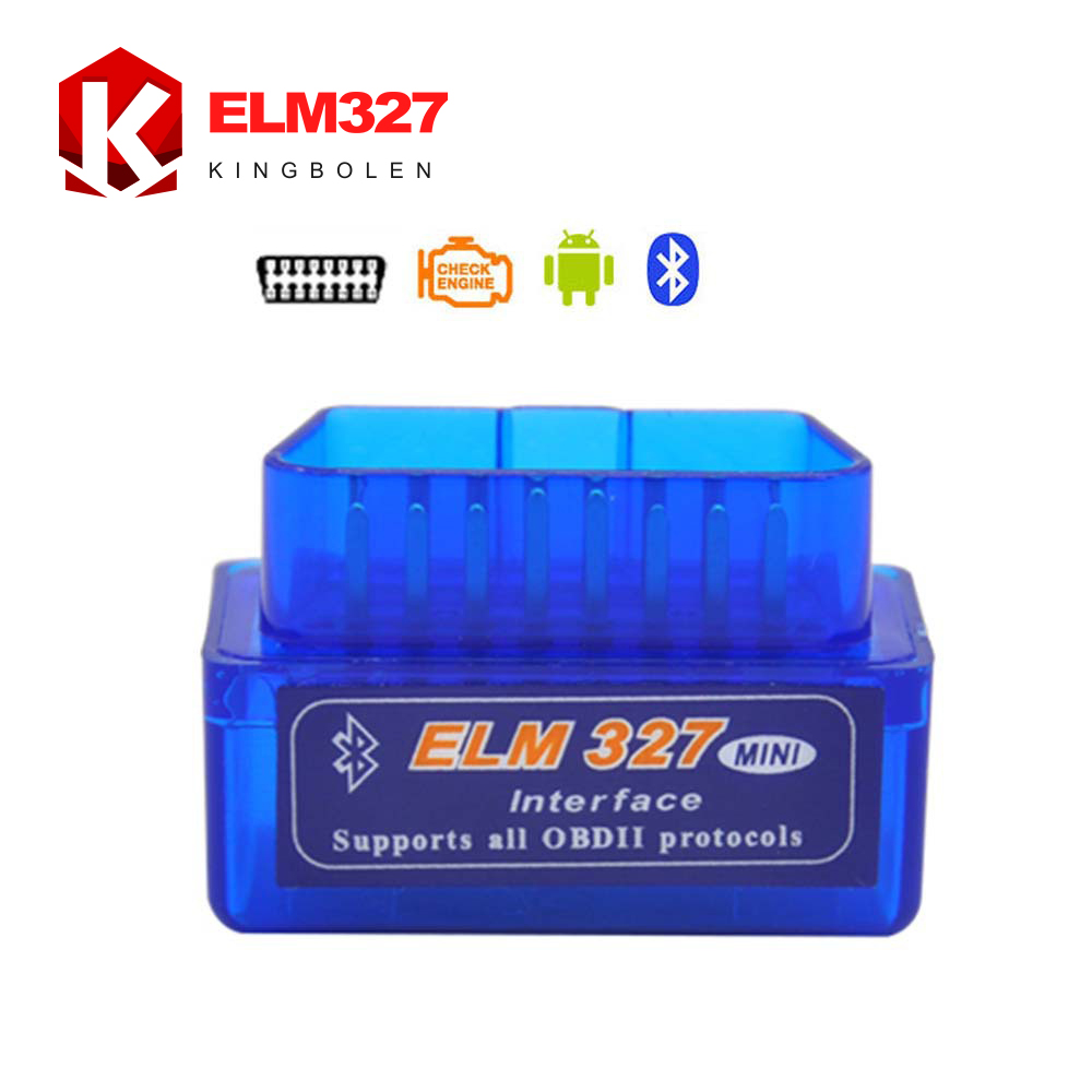 Super Mini ELM 327 Bluetooth OBD2 OBD II Works On Android Torque 2016 High Quality 3 Years Warranty ELM327 Free Shipping(China (Mainland))