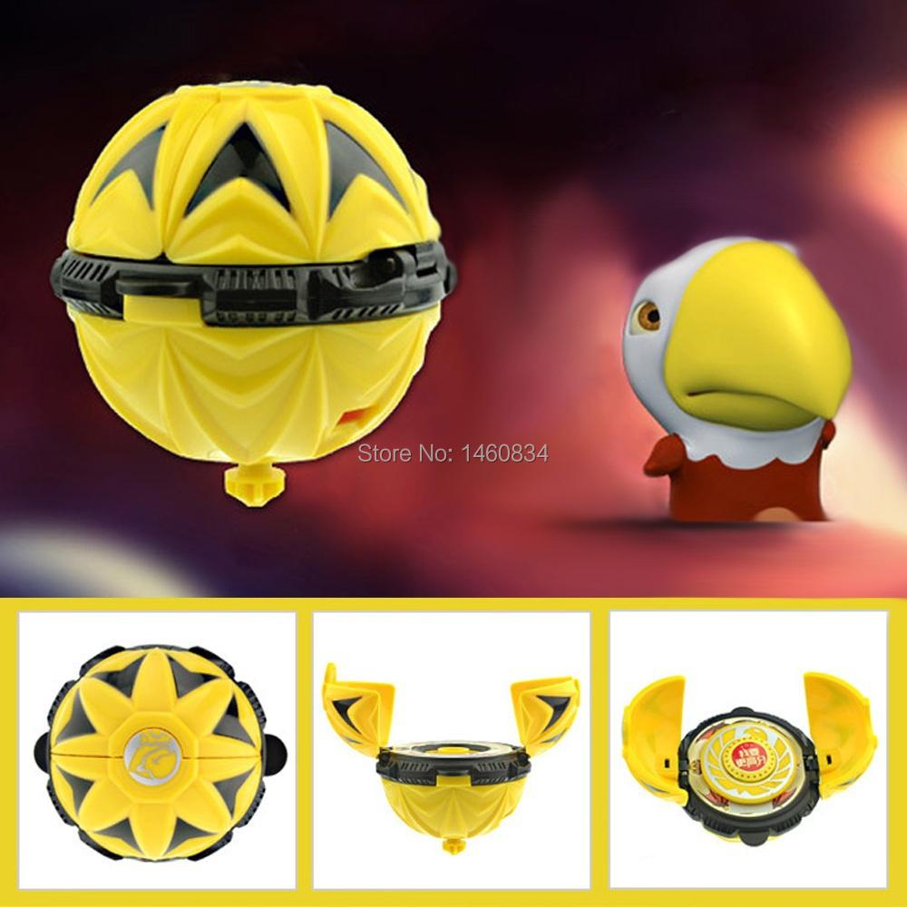 Genuine Egg God 2 Bomb Blast Egg Flying Gyroscope Spinning Top Toy for Kids-Oku Eagle Gert(China (Mainland))