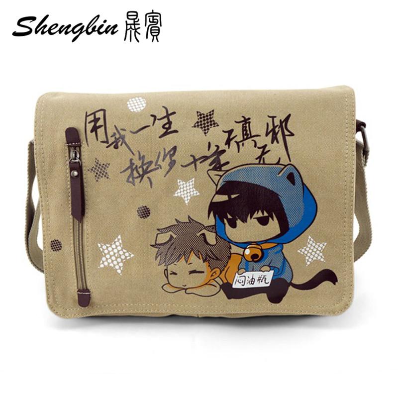 Anime Canvas Travel Bag Tomb notes Shoulder Bag Tokyo Ghoul Messenger Bag Kuroshitsuji Inclined Bags Totoro Shoulder Crossbody(China (Mainland))