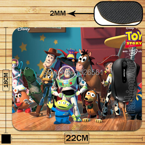 High Quality Comforat Smooth Hipster Toy Story Mouse Pad For Optical Mouse New Free(China (Mainland))