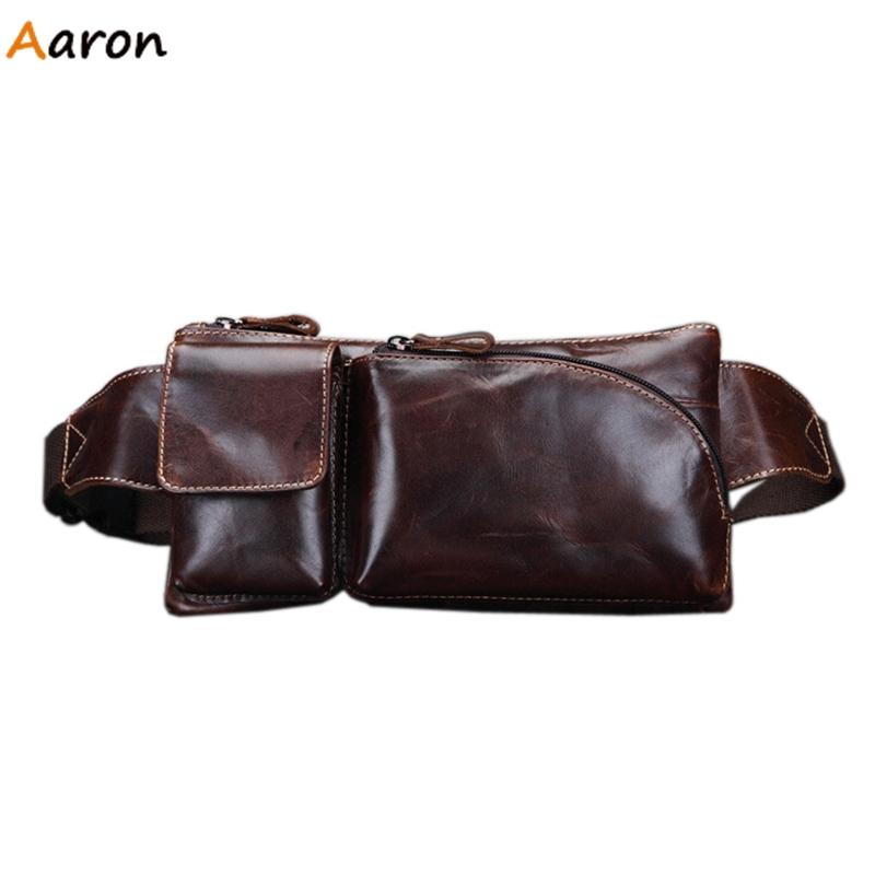 Aaron - Vintage Mens Waist Packs With Irregular Exterior Pocket,Genuine Learther Shoulder Bag For Men,Solid Mens Crossbody Bag<br><br>Aliexpress