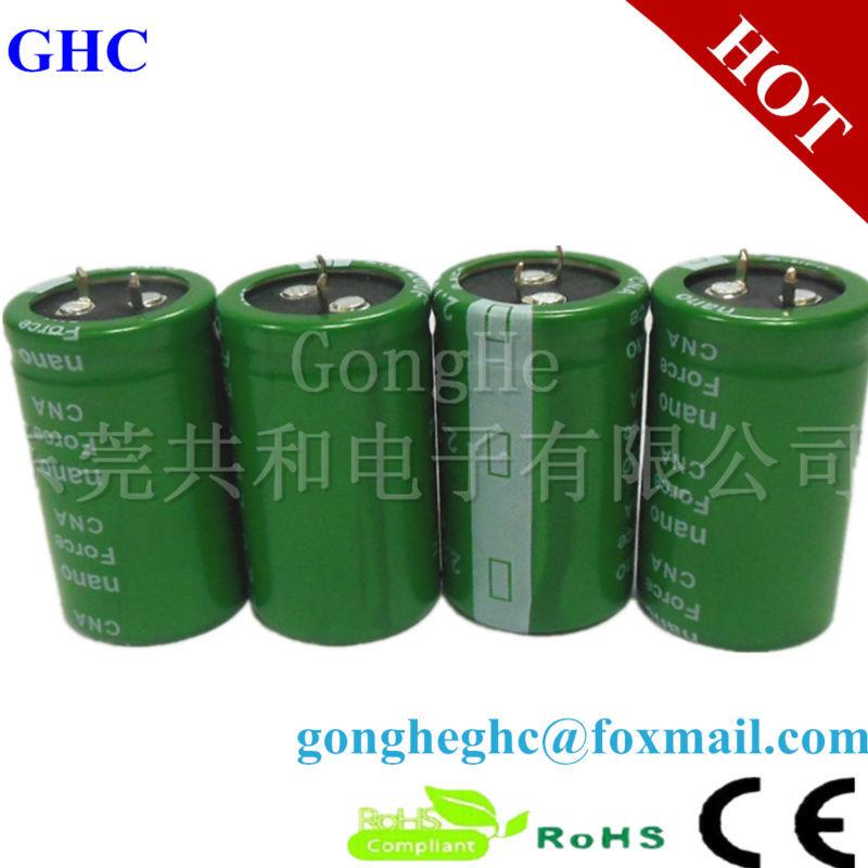 GHC 2.7v180f Cold Start Capacitor Large Capacity 180f Super Capacitor(China (Mainland))