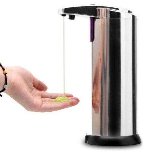 Stainless Steel Automatic Sensor Touchless Soap Dispenser Innovative Liquid Lotion Dispenser Infrared Bathroom Accessories New(China (Mainland))