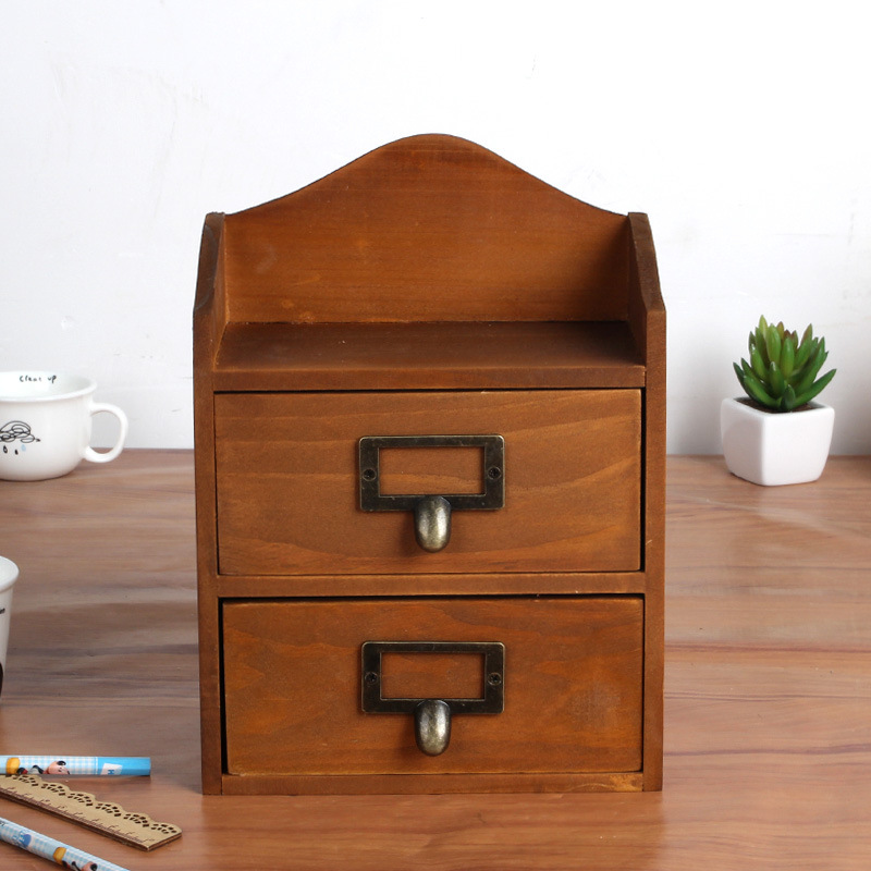 Household Daily Wooden Cosmetics Solid Wood Cabinets Drawer Home Storage Drawers Home Decoration(China (Mainland))