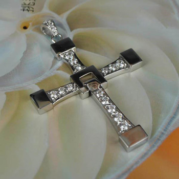FAST and FURIOUS Dominic Toretto's Cross Pendant Necklace Titanium Steel High Quality Men Jewelry Fast And Furious Necklace