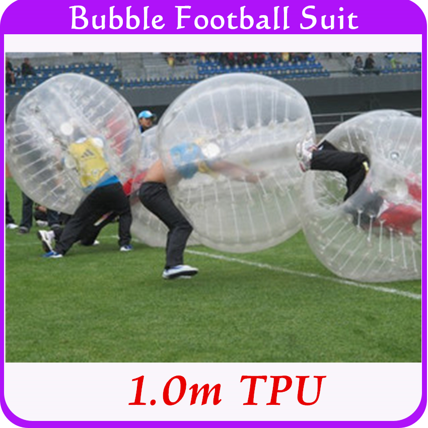 1.0m TPU Human Hamster Bumper Ball,Bubble Soccer Suit, Inflatable Body Ball For Children Kids 0.8mm Thickness Heat Sealed(China (Mainland))