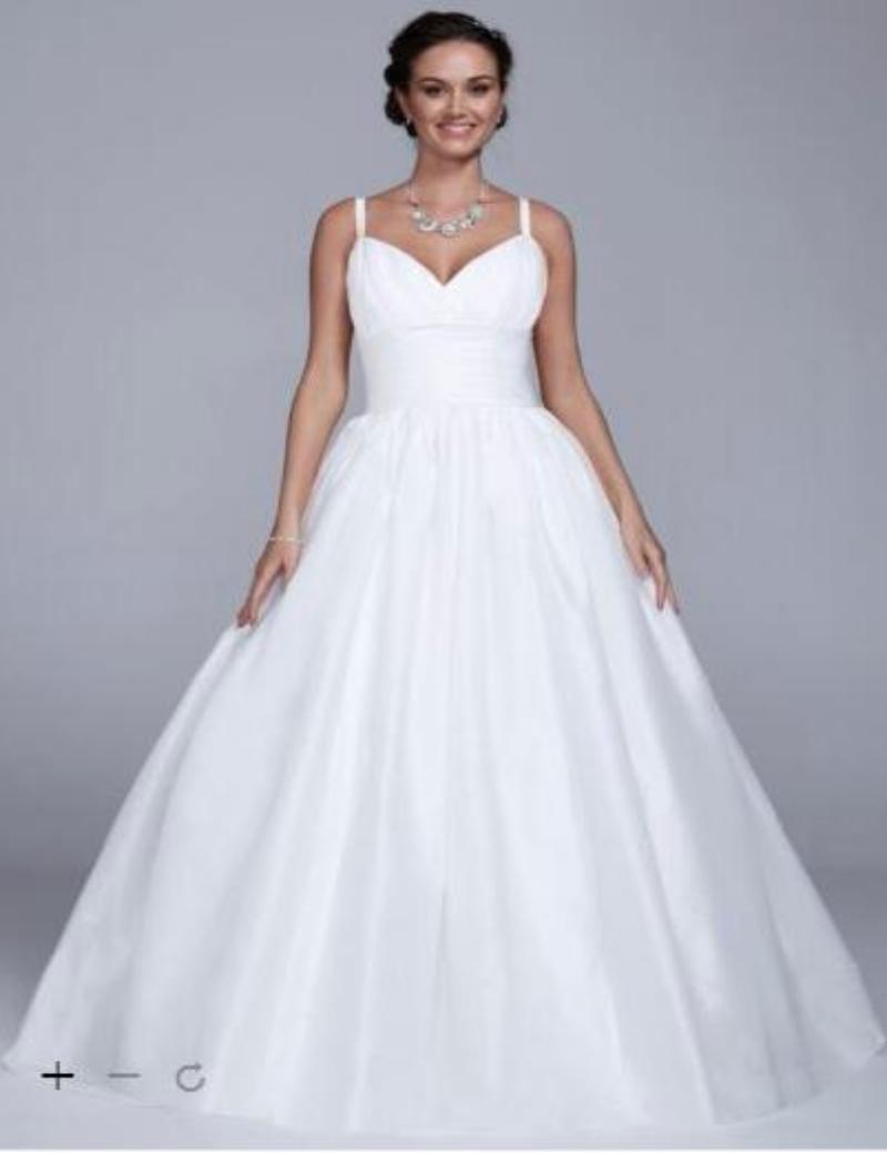 Custom Made 2016 New Free Shipping Taffeta Tank Wedding Dress With Empire Wai
