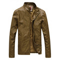 New men leather jacket PU Leather slim suede Jacket Men leather high quality pius size male