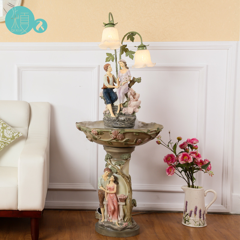 Creative luxury wedding gift floor lamp ornaments gifts crafts gifts housewarming large moving humidifier(China (Mainland))