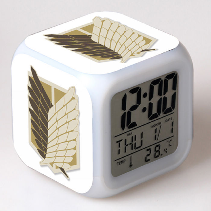 New Attack On Titan Design Led Digital Alarm Clock With
