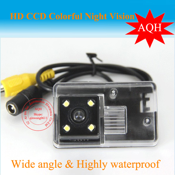 HD CCD Car Rear View Camera for Peugeot 206 207 407 307 sedan Toyota camry 2012 Free Shipping Color Night Vision(China (Mainland))