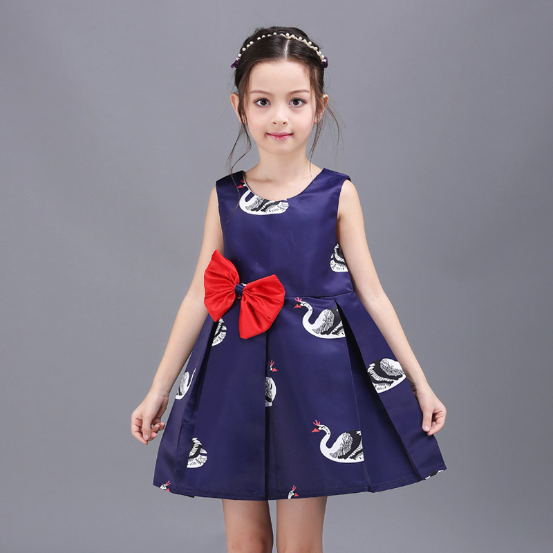 Princess Girls Party Dresses 2016 Children Ball Gowns Dress Animal Print Cute Toddler Formal Dress Teenage Girls Clothing(China (Mainland))
