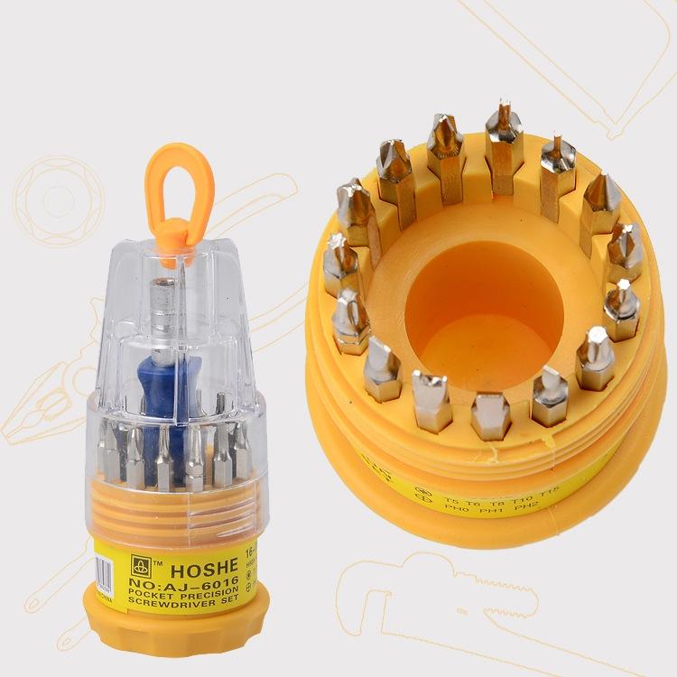 16 in 1 Electronic Precise Screwdriver Manual Screw Driver Tool 16pcs/Set Opening Repair Phone Tools ZK93(China (Mainland))