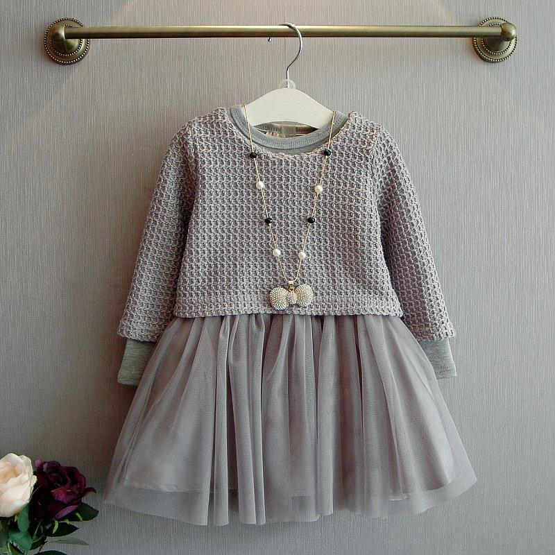 childrens long sleeve dress girls dresses winter 2016 with tutu toddler girl dresses winter infant and toddler christmas dresses(China (Mainland))