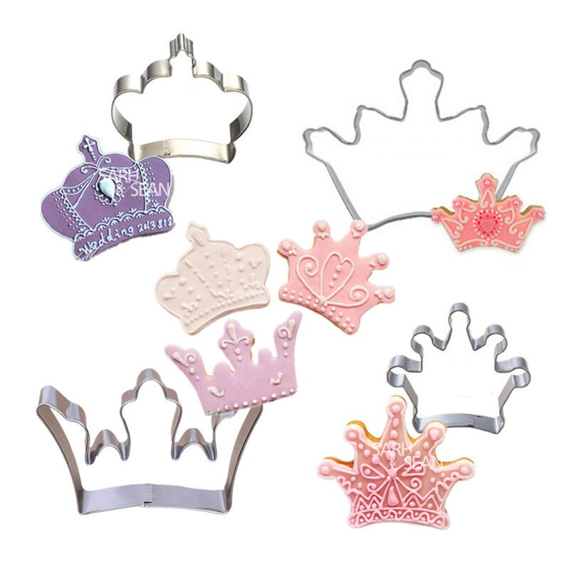 4pcs/set Metal Stainless Steel Cutters Fashion Imperial Crowns Series of Four Types Biscuits Cutters Tools Decorations(China (Mainland))