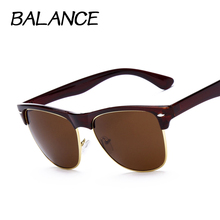 B L Classic Half Frame Metal Sunglasses Men Women Brand Designer sun glass Vintage Oval Mirror Glasses Gafas Oculos De Sol UV400
