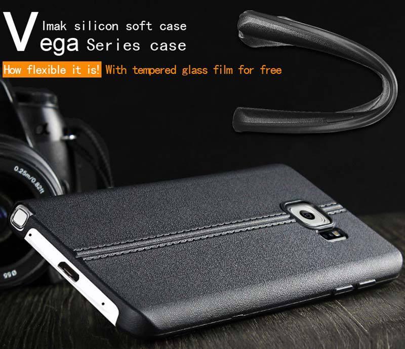 сделать imak Вега мягкий силиконовый чехол чехол для Samsung Галактики Примечание 5 силиконовый протектор кожи Shell Капа для Примечание 5 1шт закаленное стекло