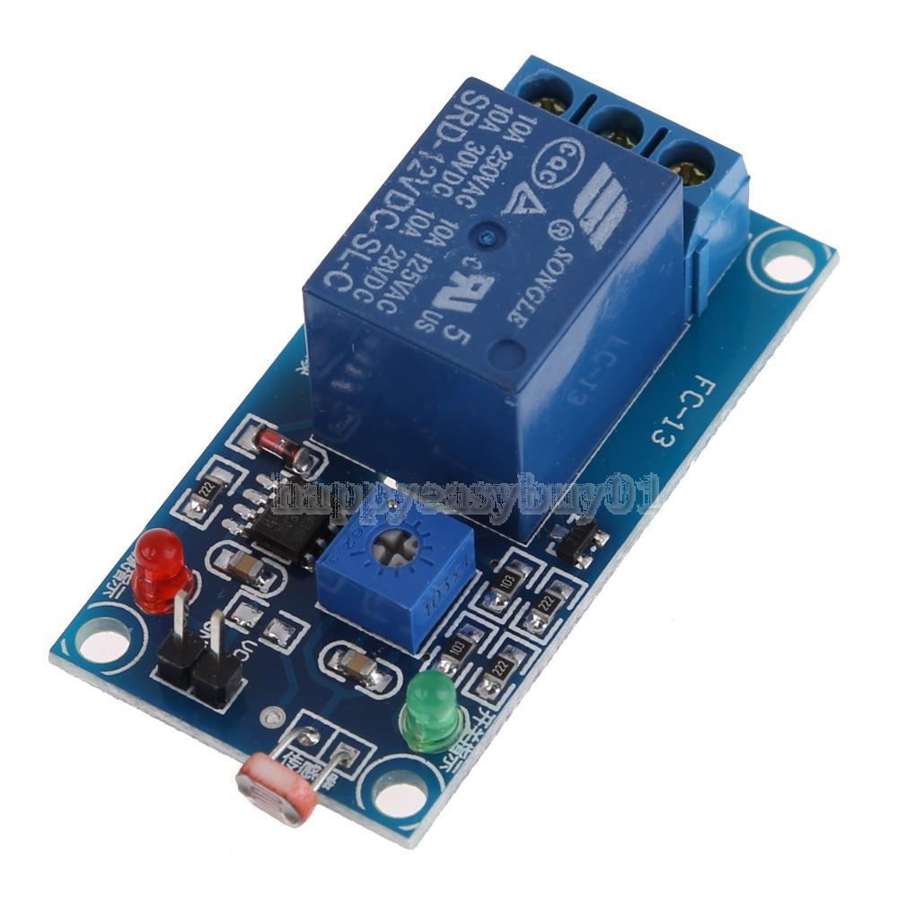 12V Photoswitch Photoresistance LDR Photoresistor+Relay Module Light Detect H1E1(China (Mainland))